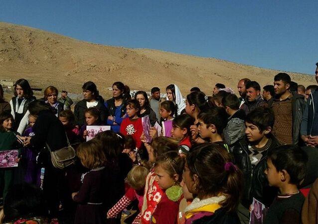 احتجاج في شمال العراق لتحرير السبايا والأطفال من داعش
