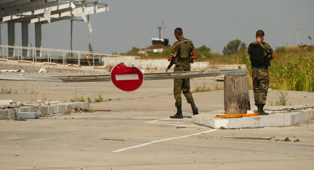 خط التماس بين القوات الأوكرانية والمدافعين عن جمهورية دونيتسك الشعبية