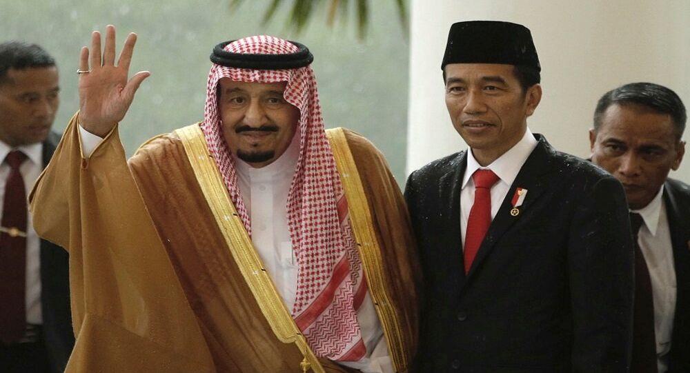 الملك سلمان ورئيس إندونسيا