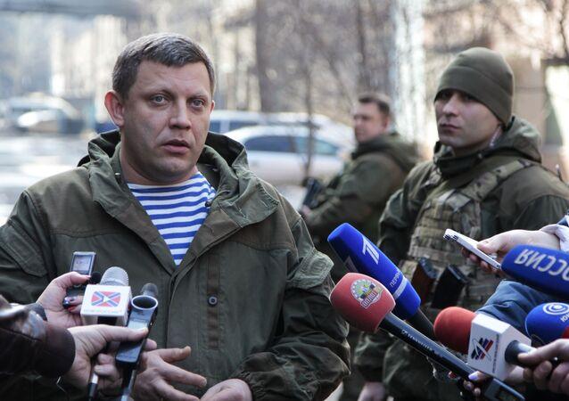 ألكسندر زاخارتشينكو رئيس جمهورية دونيتسك الشعبية