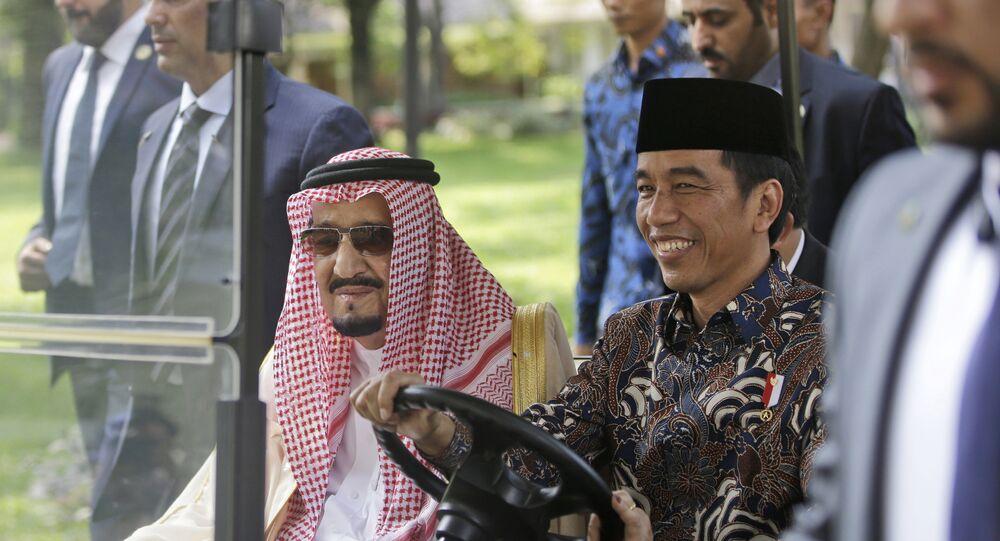 الملك سلمان والرئيس الإندونيسي