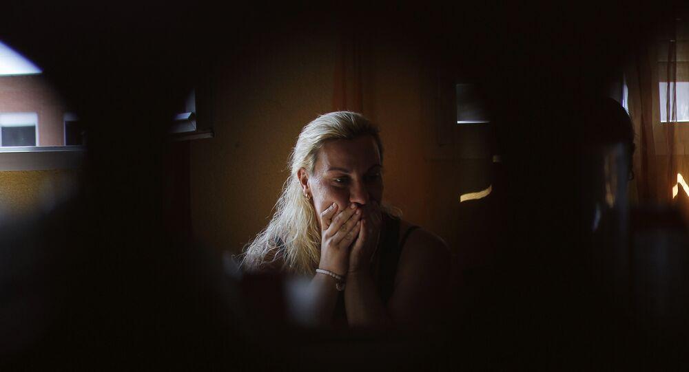 إحدى ضحايا العنف في إسبانيا