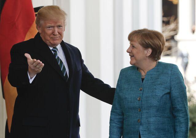 لقاء ترامب وميركل