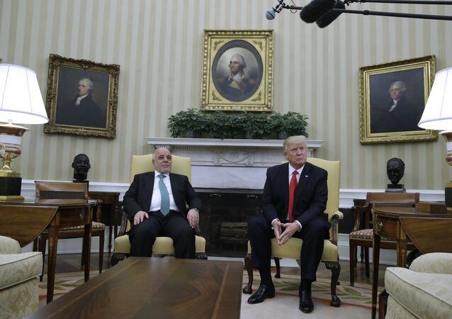 الزعيمان ترامب والعبادي