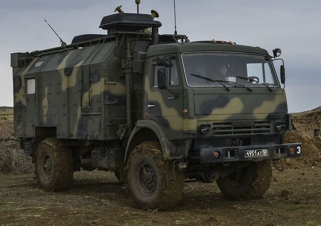 شاحنة كاماز التابعة لقوات الدفاع الروسية