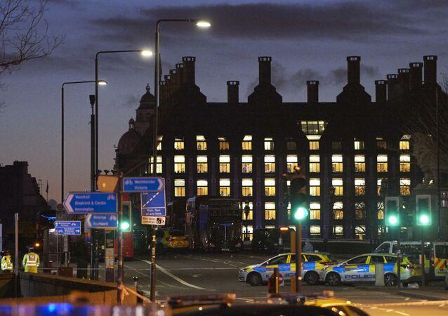 الوضع في لندن بعد إطلاق النار بالقرب من البرلمان البريطاني - الشرطة والبريطانيون