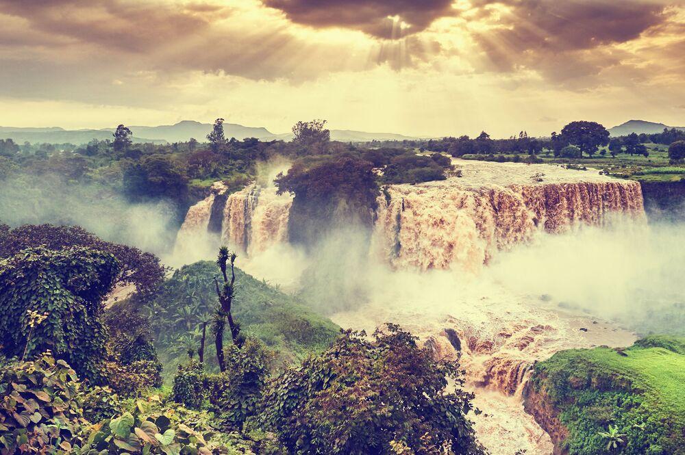 شلال تيسييات في إثيوبيا