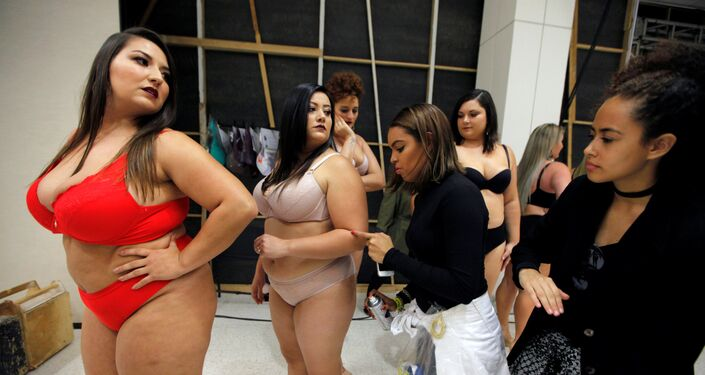 عرض أزياء بلاس سايز في سان بولو، البازيل 19 مارس/ آذار 2017