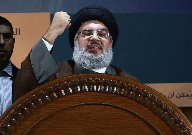 زعيم الحزب اللبناني حزب الله السيد حسن نصرالله