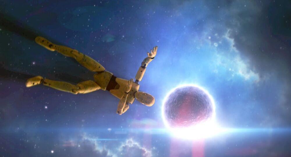 سقوط الإنسان على نجم نيتروني
