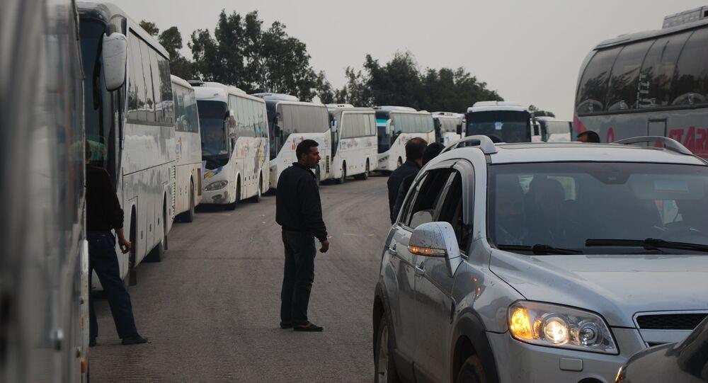خروج المسلحين من حمص باتجاه جرابلس