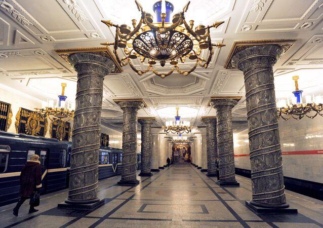محطة مترو أفتوفو في مدينة سان بطرسبورغ