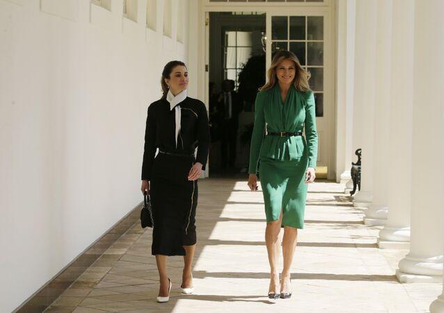 ميلانيا ترامب والملكة رانيا