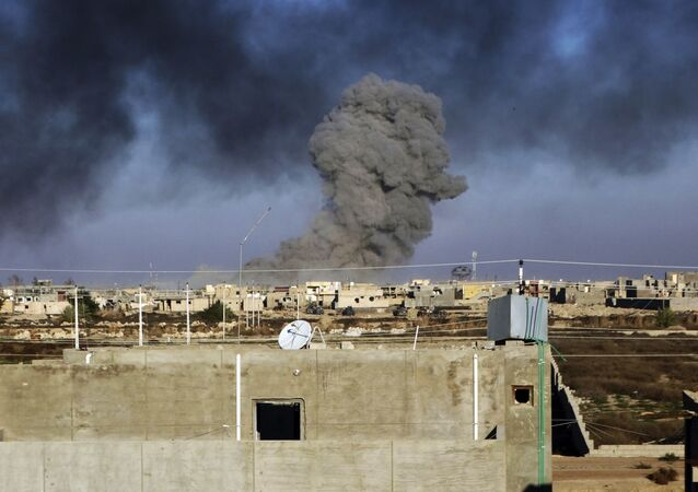 القصف الجوي على مدينة الموصل من قبل طيران التحالف الدولي