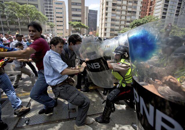 مظاهرات في كاراكاس، فنزويلا 4 أبريل/ نيسان 2017