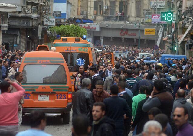 تفجير إرهابي أمام كنيسة في الإسكندرية في مصر