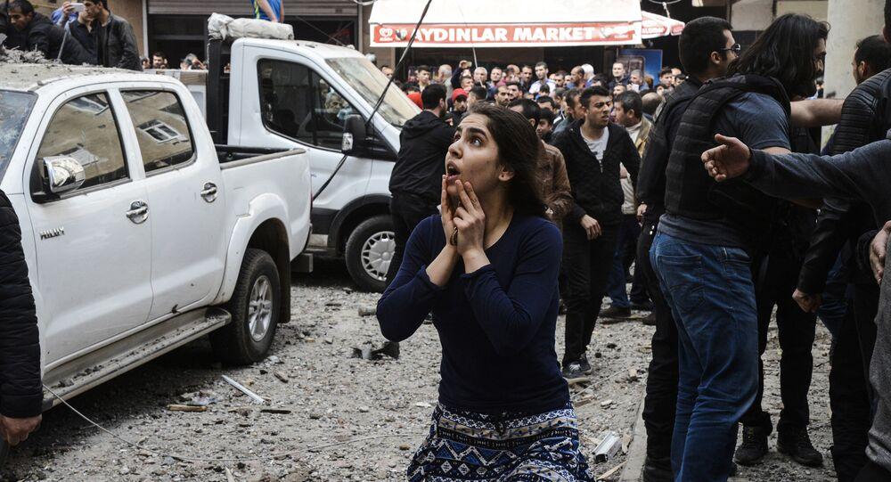 انفجار في ديار بكر، جنوب تركيا 11 أبريل/ نيسان 2017
