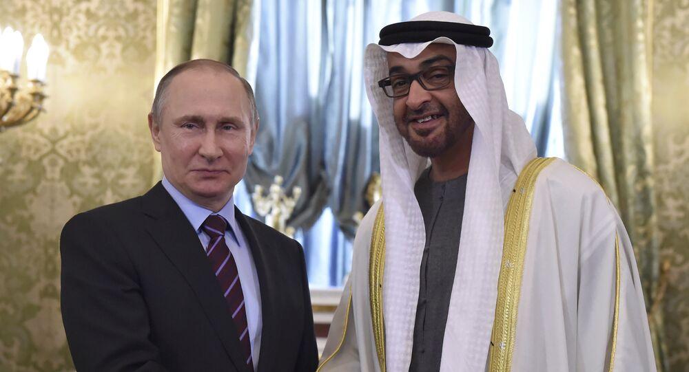 بوتين وولي عهد أبو ظبي