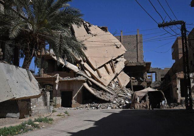 الوضع في دير الزو في سوريا