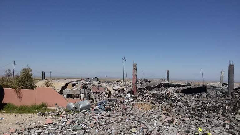 أثار القصف التركي في شمال العراق