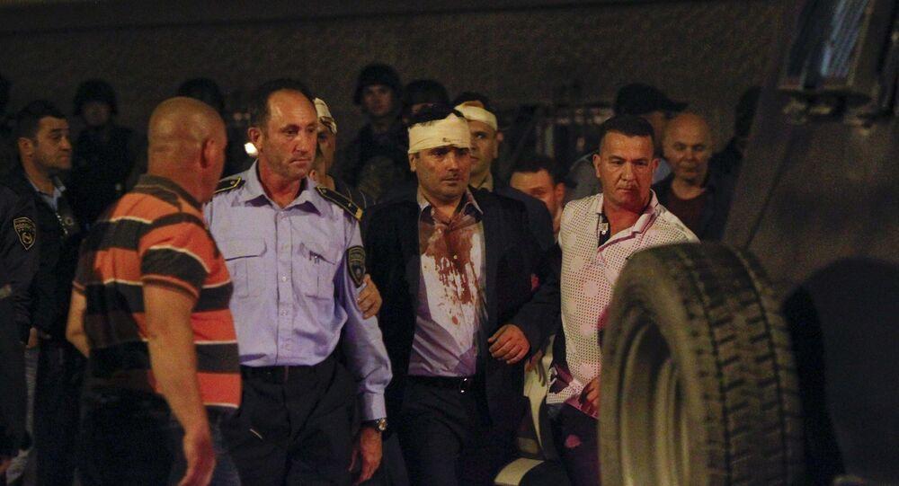 اقتحام برلمان مقدونيا