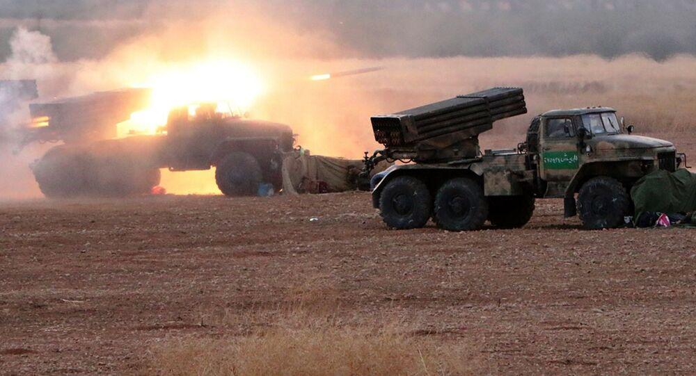 راجمات صواريخ غراد
