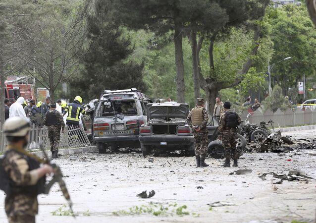 انفجار كبير قرب السفارة الأمريكية في العاصمة الأفغانية كابول، أفغانستان