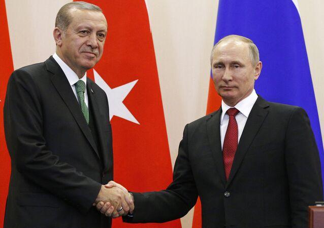 المؤتمر الصحفي للرئيس الروسي فلاديمير بوتين والرئيس التركي رجب طيب أردوغان
