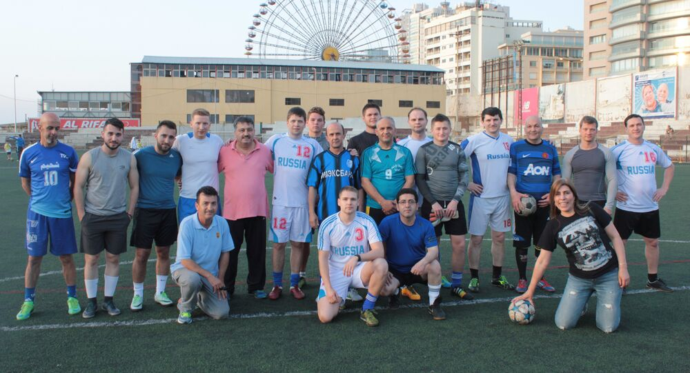مبارة كرة قدم بمناسبة عيد النصر على الفاشية