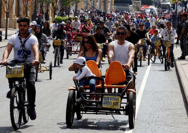 ماراثون دراجات في بيروت