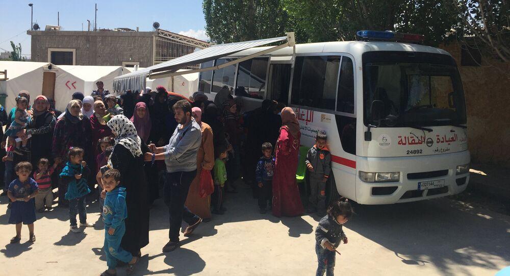 عيادة نقالة - مخيم تعلبايا