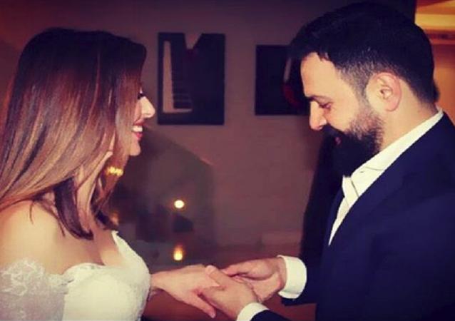 زواج تيم حسن و وفاء الكيلاني