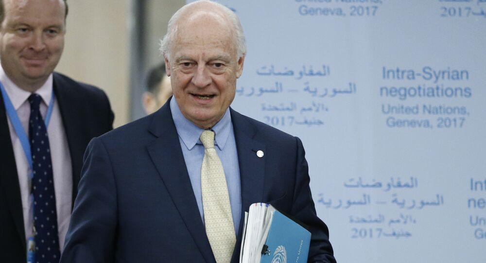 المبعوث الأممي إلى سوريا، ستيفان دي ميستورا