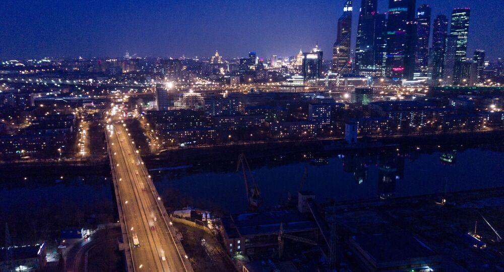 مشهد يطل على موسكو سيتي في مدينة موسكو
