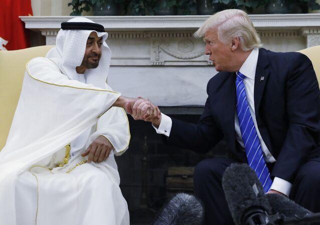 ترامب ومحمد بن زايد