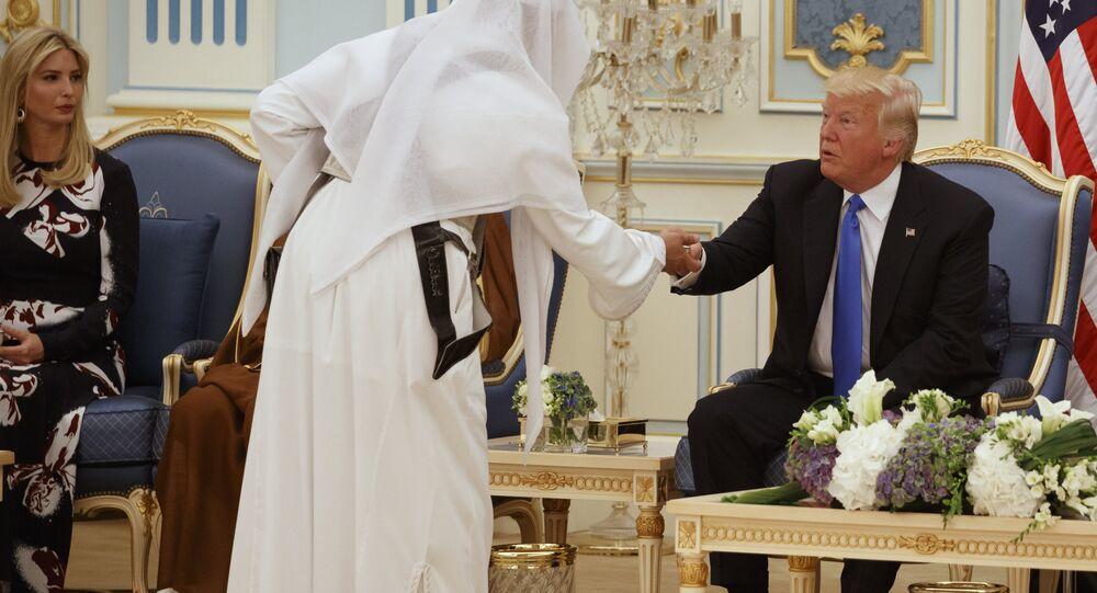 إيفانكا ترامب خلال زيارة الرئيس الأمريكي إلى السعودية