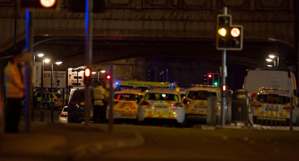 سيارات الشرطة في موقع الحادث