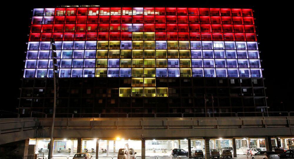 علم مصر على بلدية تل أبيب