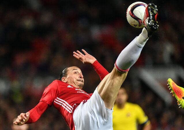 لاعب مانشستر يونايتد زلاتان إبراهيموفيتش