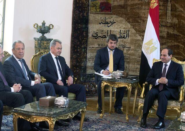 السيسي ولافروف وشويغو