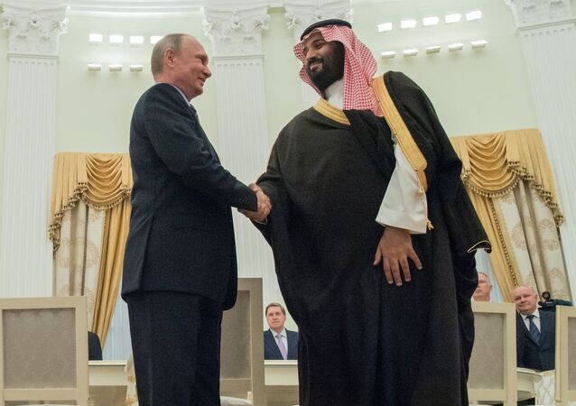 بوتين وولي العهد السعودي وزير الدفاع سلمان بن محمد آل سعود