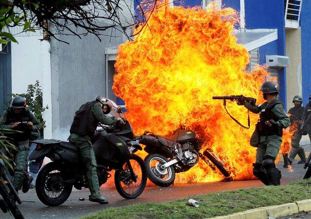 استمرار الاحتجاجات في مدينة كاراكاس، فنزويلا 29 مايو/ أيار 2017