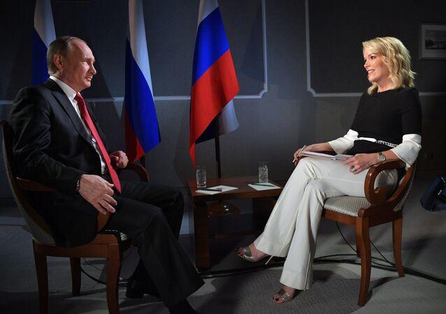 الرئيس بوتين خلال مقابلة مع ميغي كيللي (3 يونيو/2017)