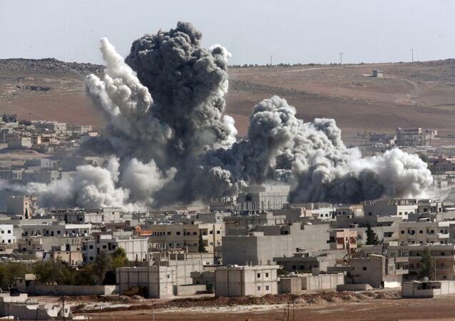 غارة الطيران الحربي الأمريكي في سوريا