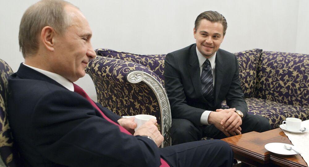 الرئيس فلاديمير بوتين والممثل الأمريكي ليوناردو دي كابريو