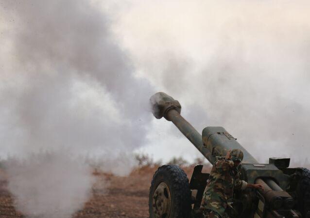مدفع للجيش السوري