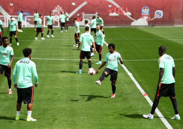 تدريبات المنتخب البرتغالي في قازان الروسية