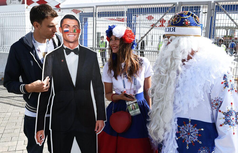 جماهير المنتخب الروسي في كأس القارات2017