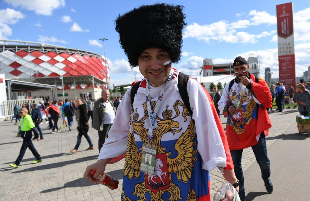 مشجع روسي في كأس القارات2017