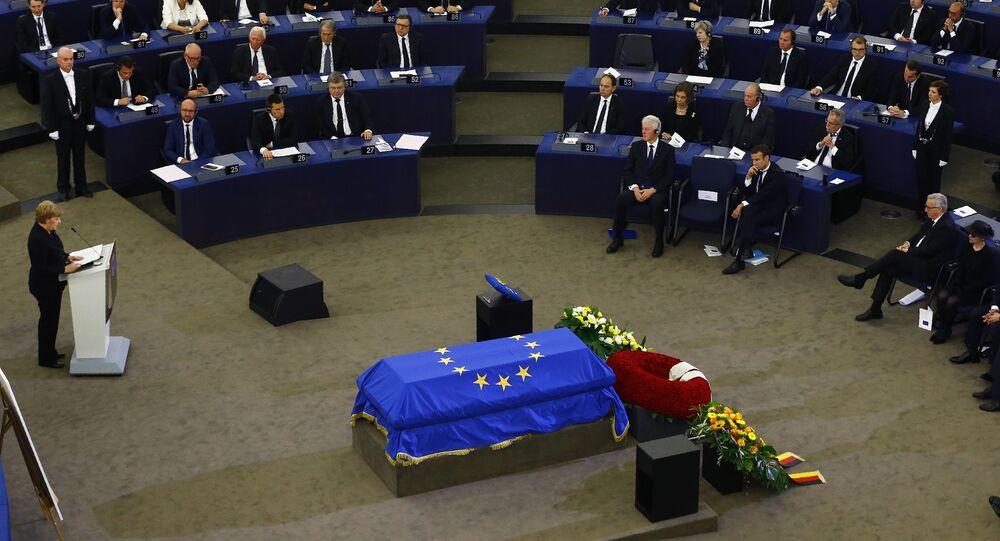 مراسم التأبين في البرلمان الأوروبي بمدينة ستراسبورغ